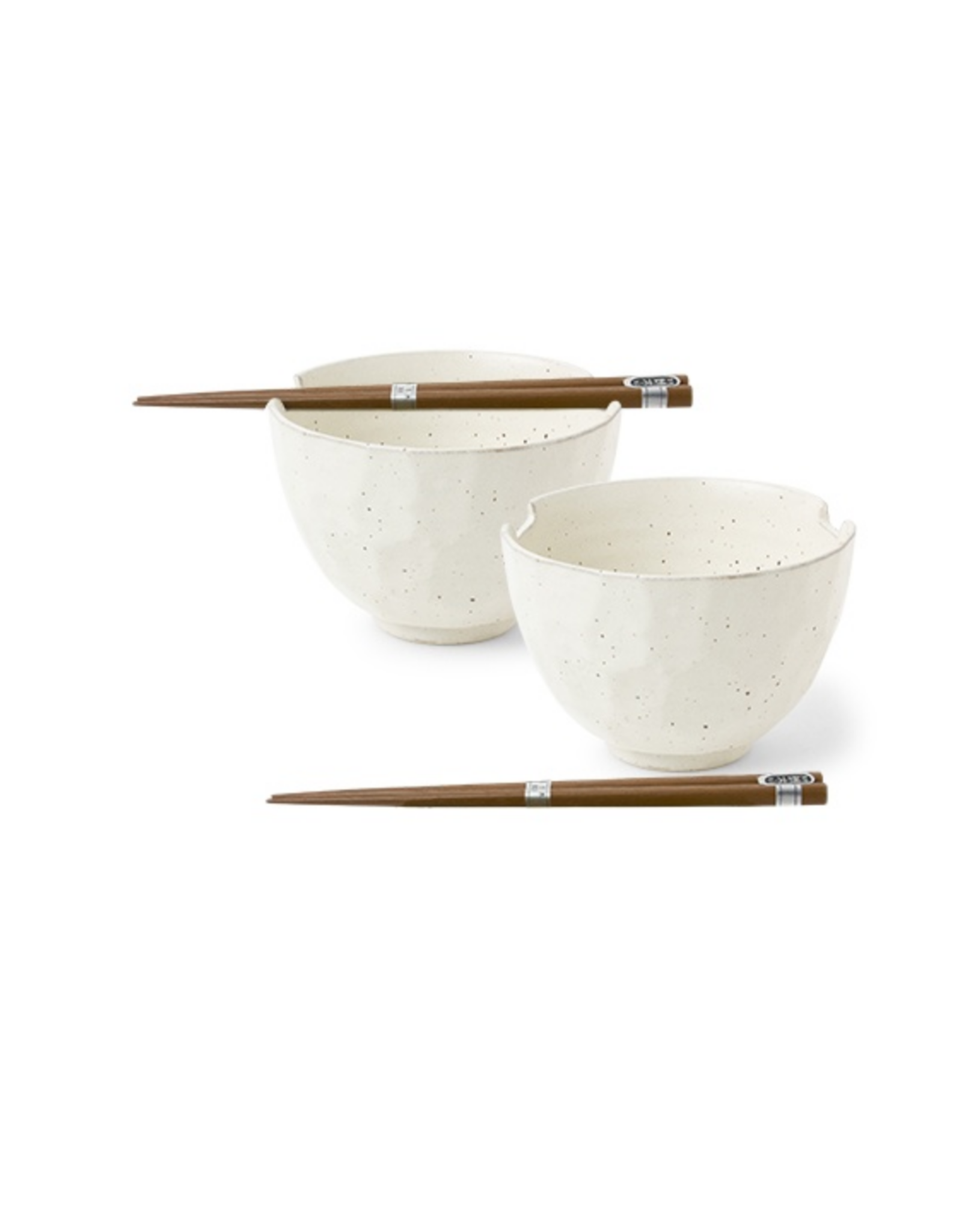 Boulder White Bowls Set of 2