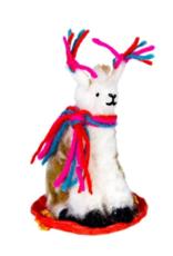 Sledding Llama Ornament