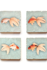 Goldfish Marble Coaster Set