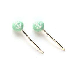 Mint Anchor Hairpins