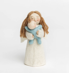 Angel Gift Ornament - Blue Baby