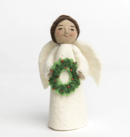 Angel Gift Ornament - Holiday Joys (Wreath)