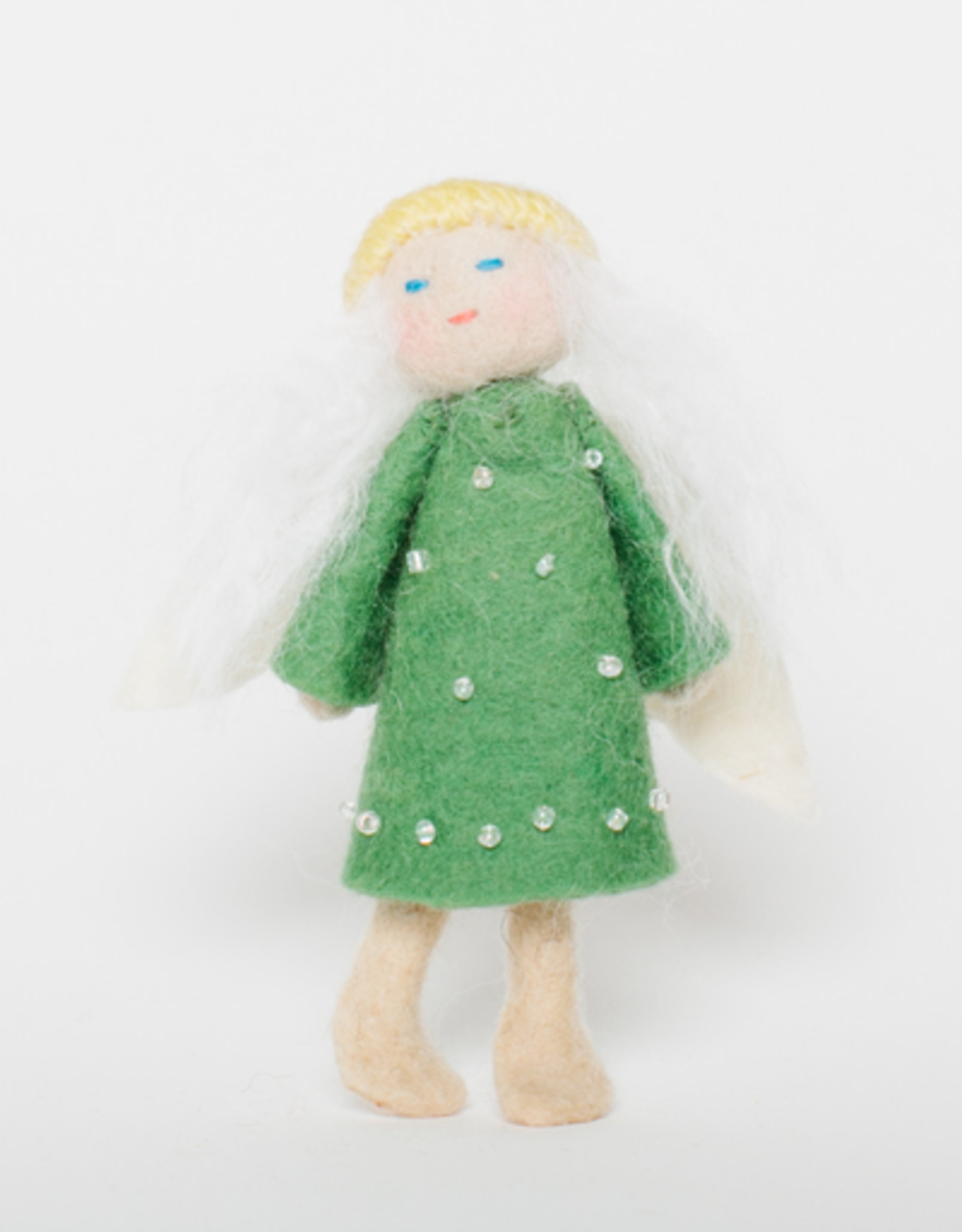 Flying Vintage Angel Ornament - Pine
