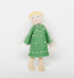 Flying Vintage Angel Ornament - Pine