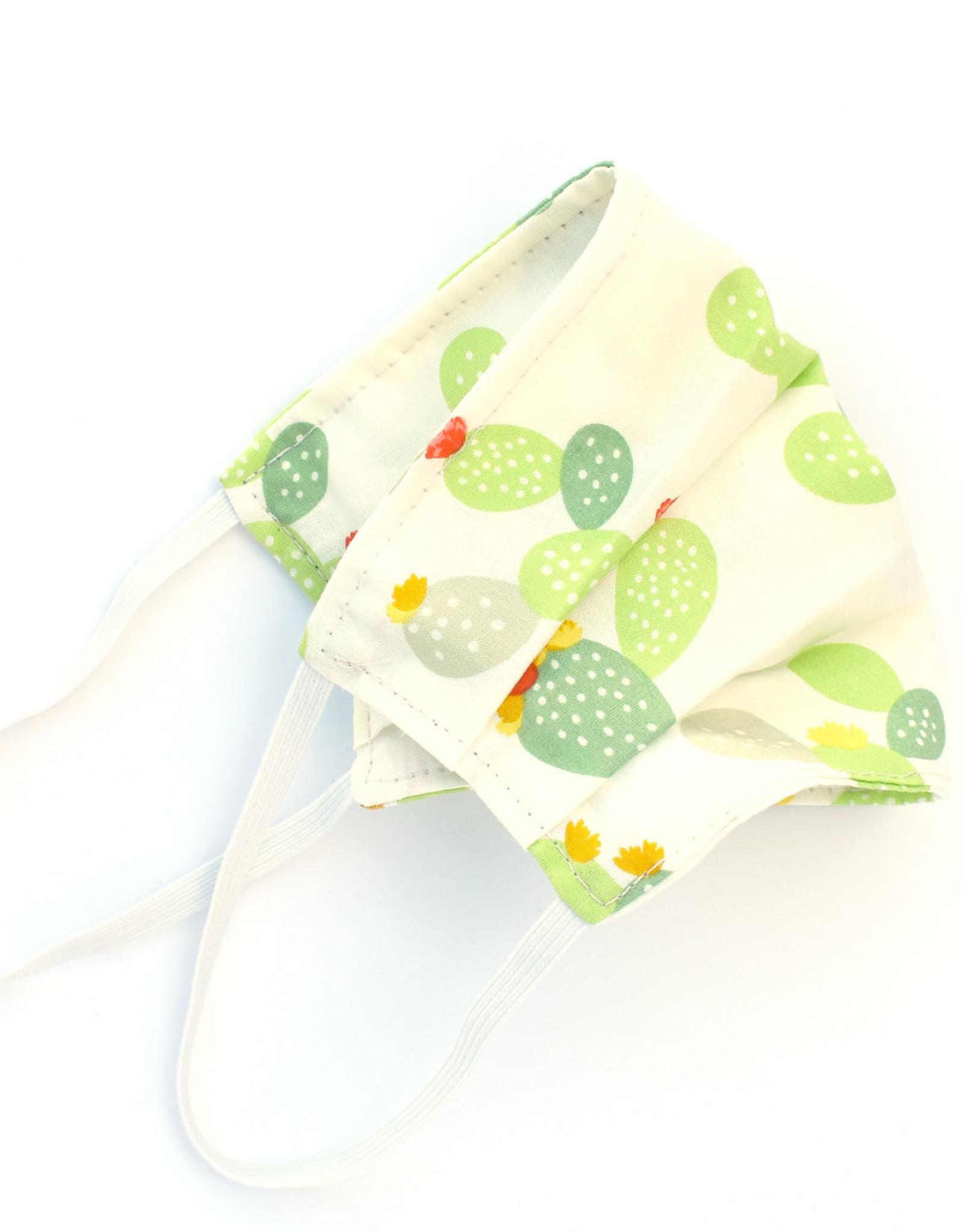 Pleated Cloth Face Mask -  Cactus