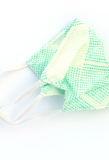 Pleated Cloth Face Mask -  Seafoam Dots