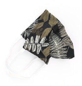 Pleated Cloth Face Mask -  Woodland Black
