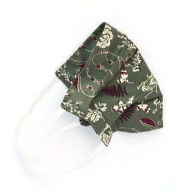 Pleated Cloth Face Mask -  Woodland Green