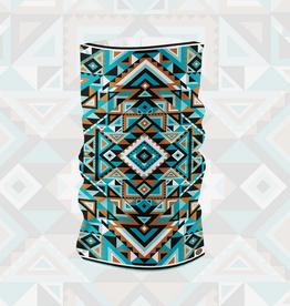 Tube Bandana Gaiter -  Blue Aztec