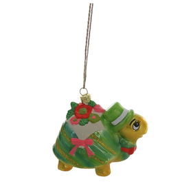 Flower Delivery Turtle Ornament