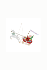 Believe In Magic Red Sleigh Ornament