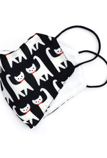 All Over Patterned Face Mask -  Cats