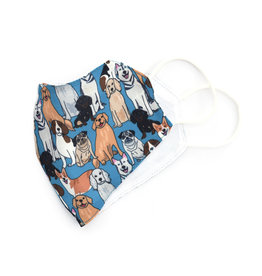 All Over Patterned Face Mask -  Dogs