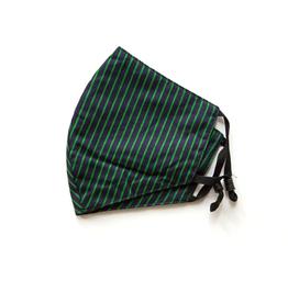 Adjustable Cotton Face Mask (Green Stripes)