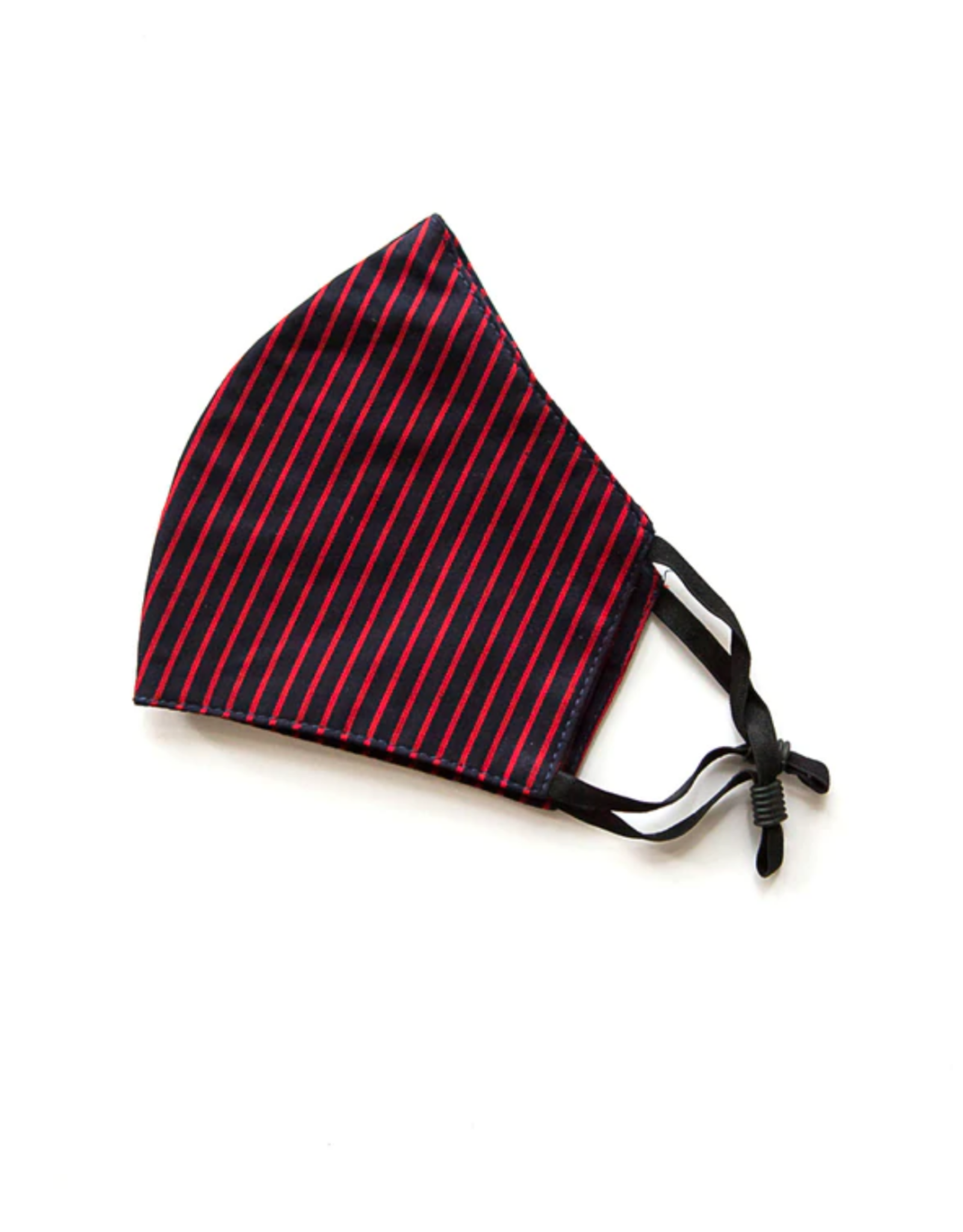 Adjustable Cotton Face Mask (Red Stripes)