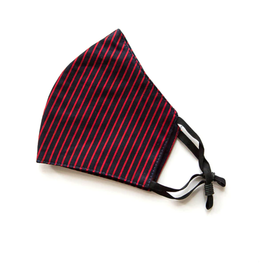 Adjustable Cotton Face Mask (Red Stripes)
