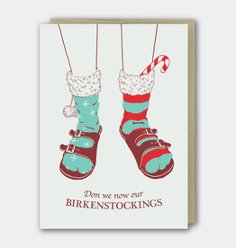 Don We Now Our Birkenstockings Greeting Card
