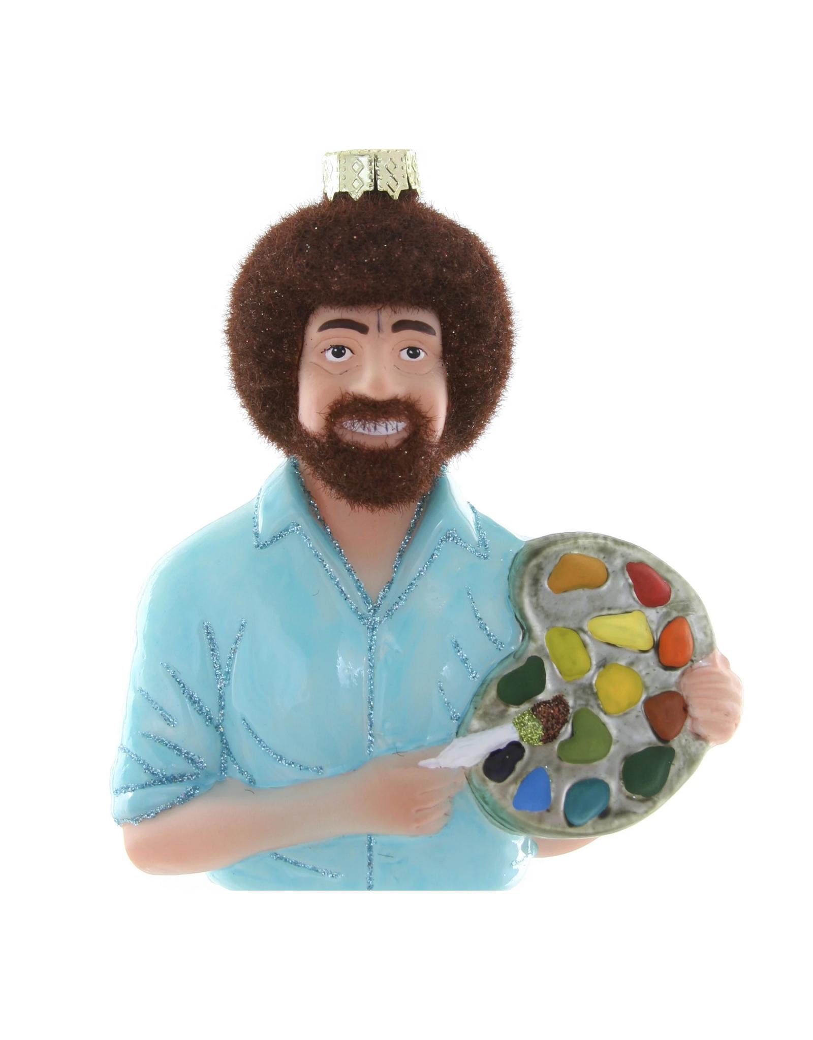 Bob Ross Glass Ornament