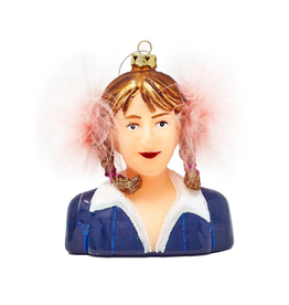 Britney Spears Glass Ornament