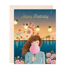 Happy Birthday Cotton Candy Greeting Card