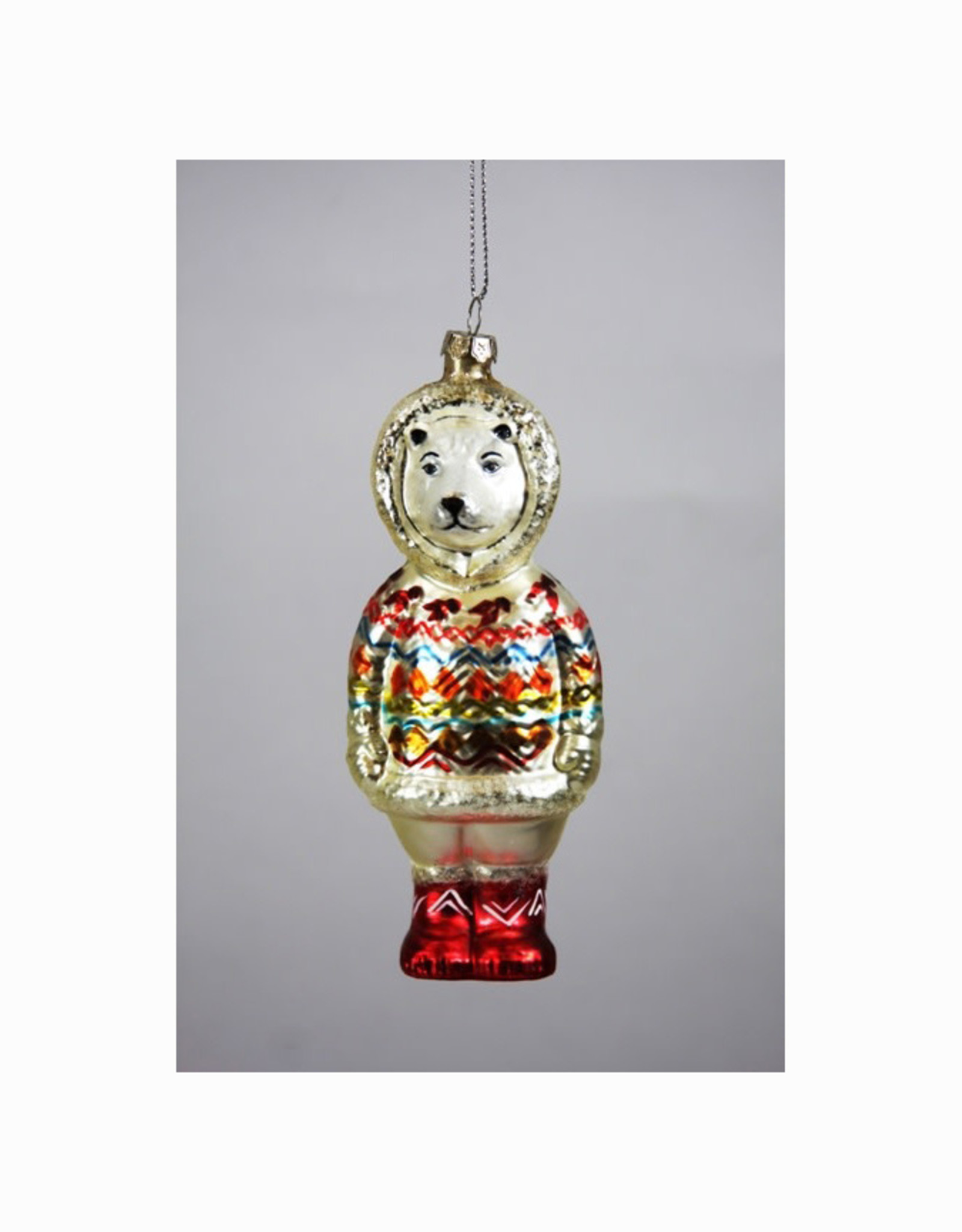 Cozy Polar Bear Ornament