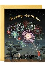 Happy Birthday (Fireworks) Greeting Card