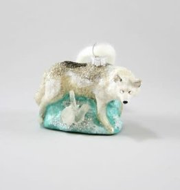 White Wolf Ornament