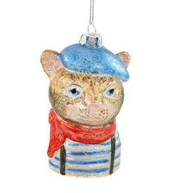 French Feline Ornament
