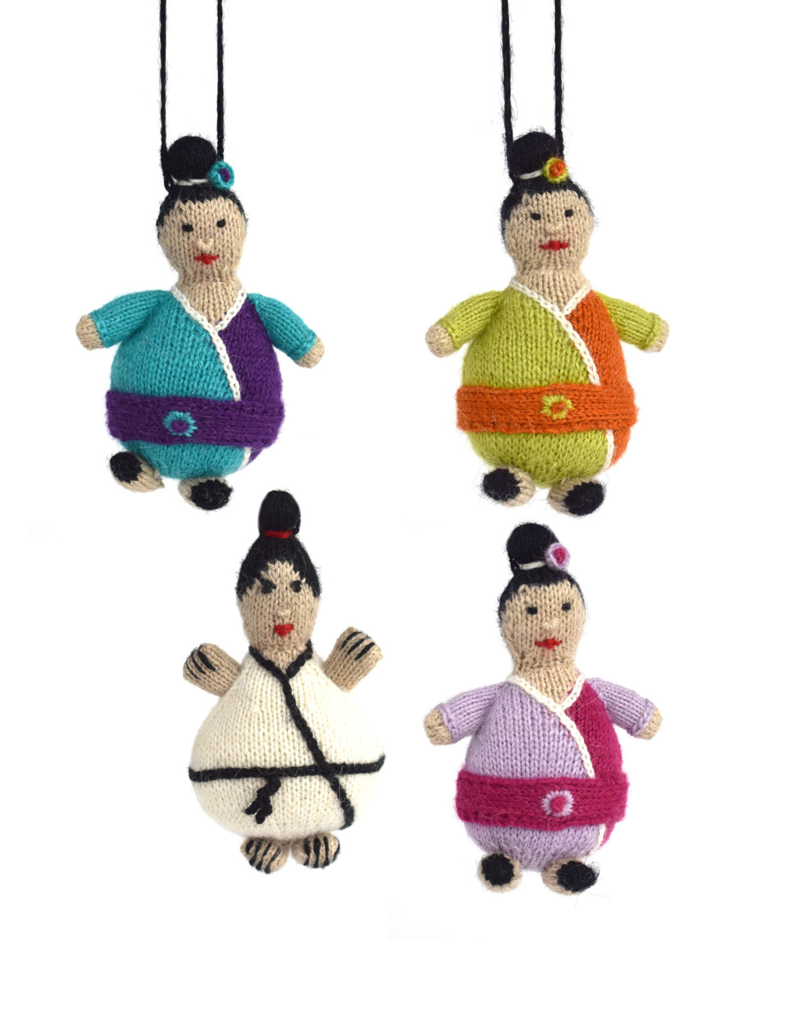 Knit Karate Boy Ornament Assorted