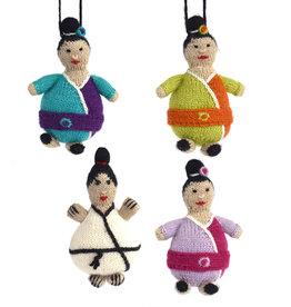 Knit Karate Boy Ornament Assorted