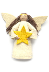 Star Angel Tree Topper - Yellow Star (Assorted)