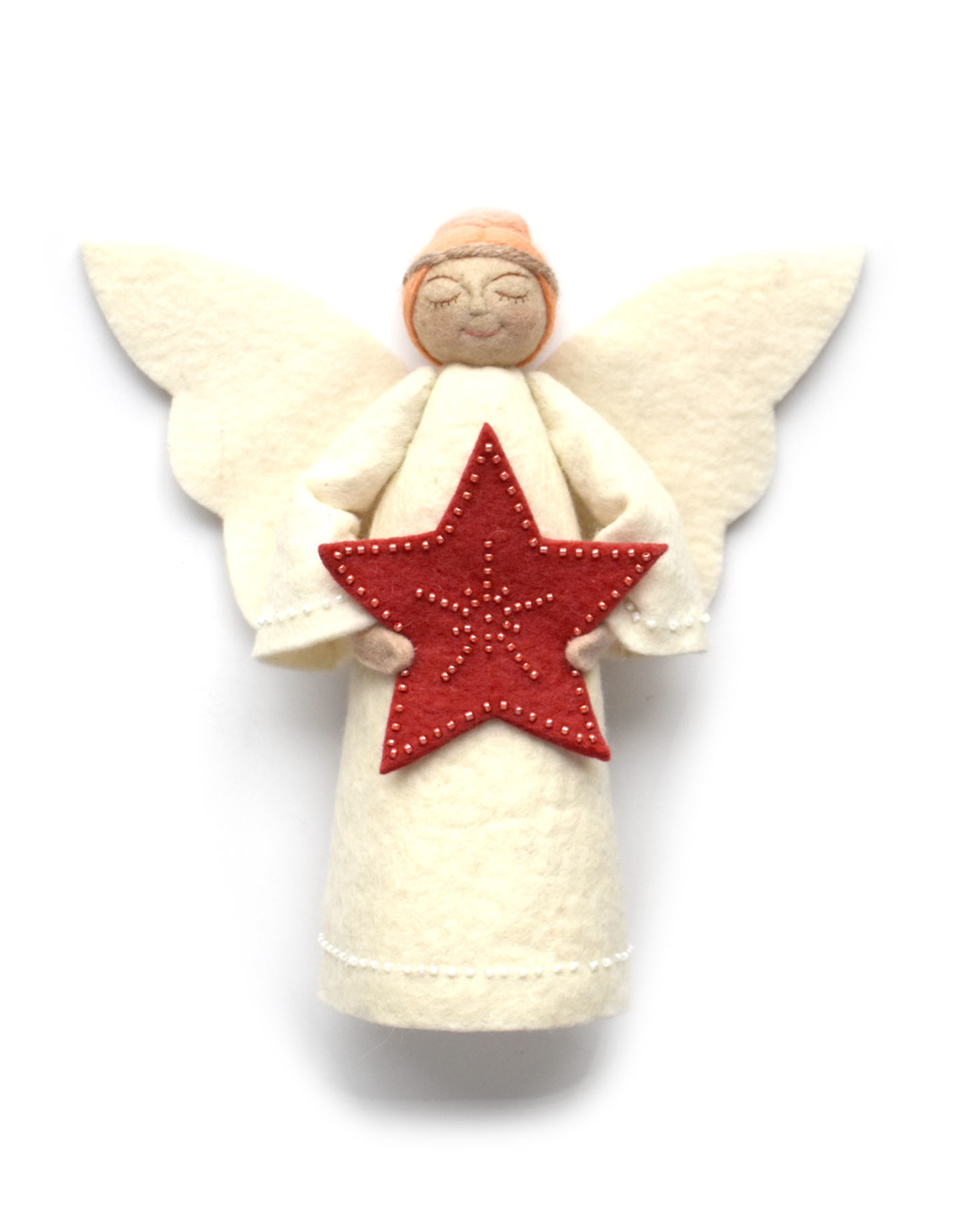 Star Angel Tree Topper - Red Star (Assorted)
