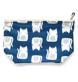 Blue Cat Cosmetic Bag
