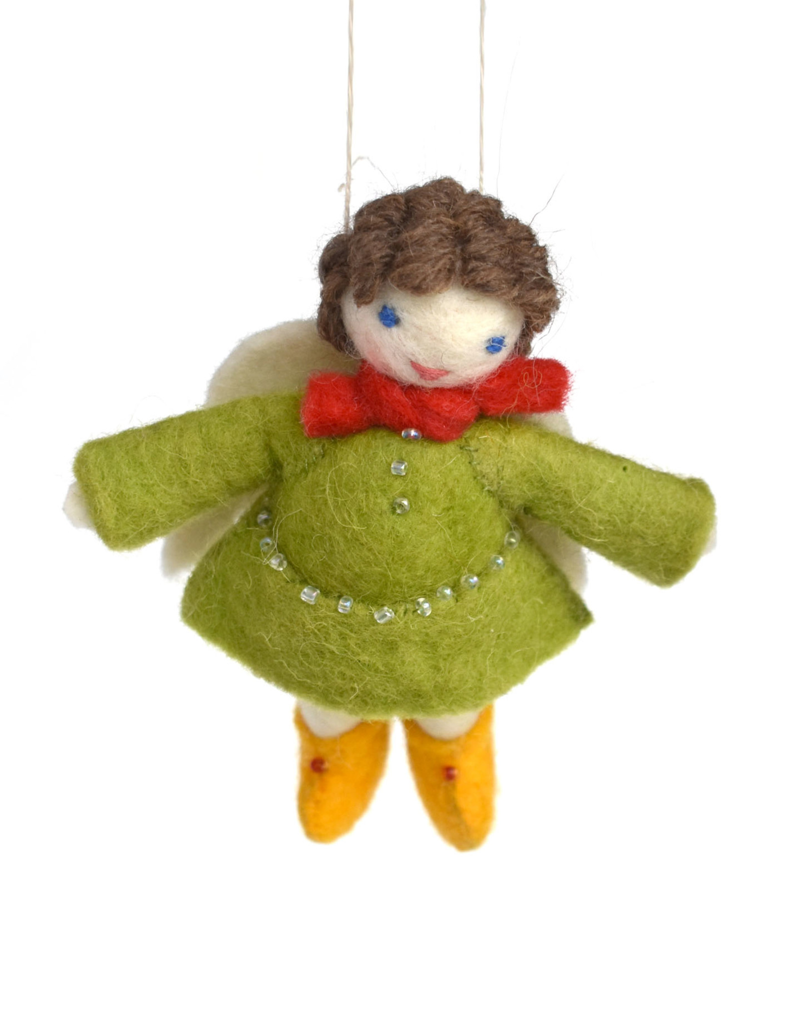 My Darling Angel Ornament - Green