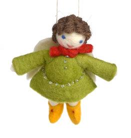 My Darling Angel Ornament - Green