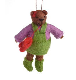 Girls are Strong Bear Ornament