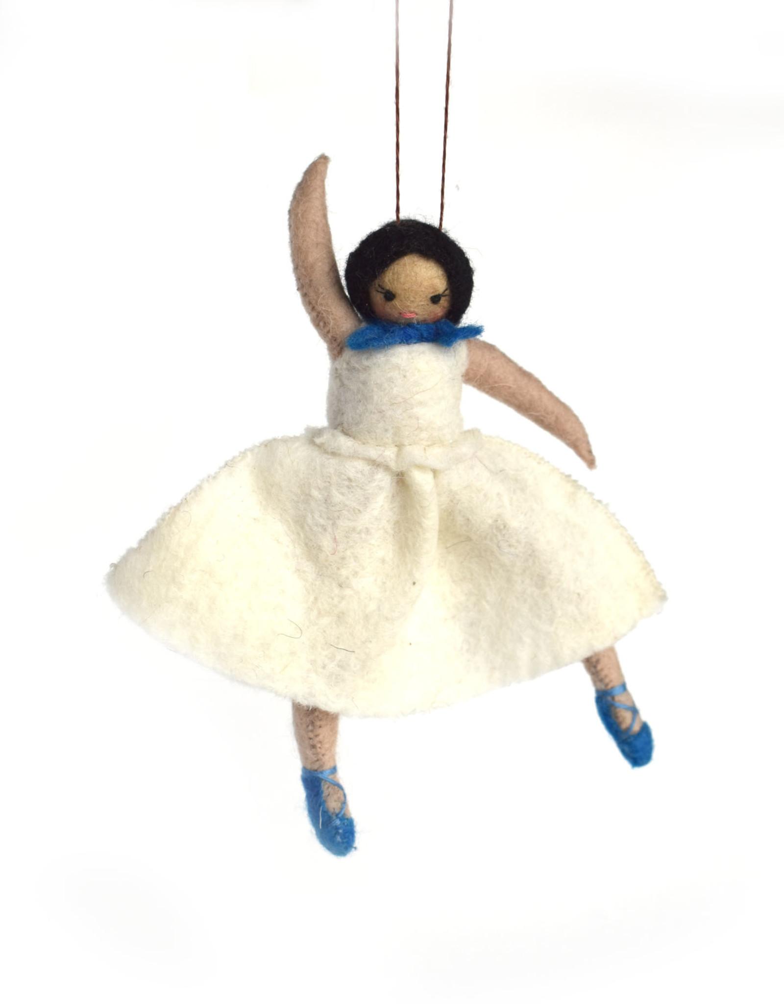Ballerina Ornament - White Dress
