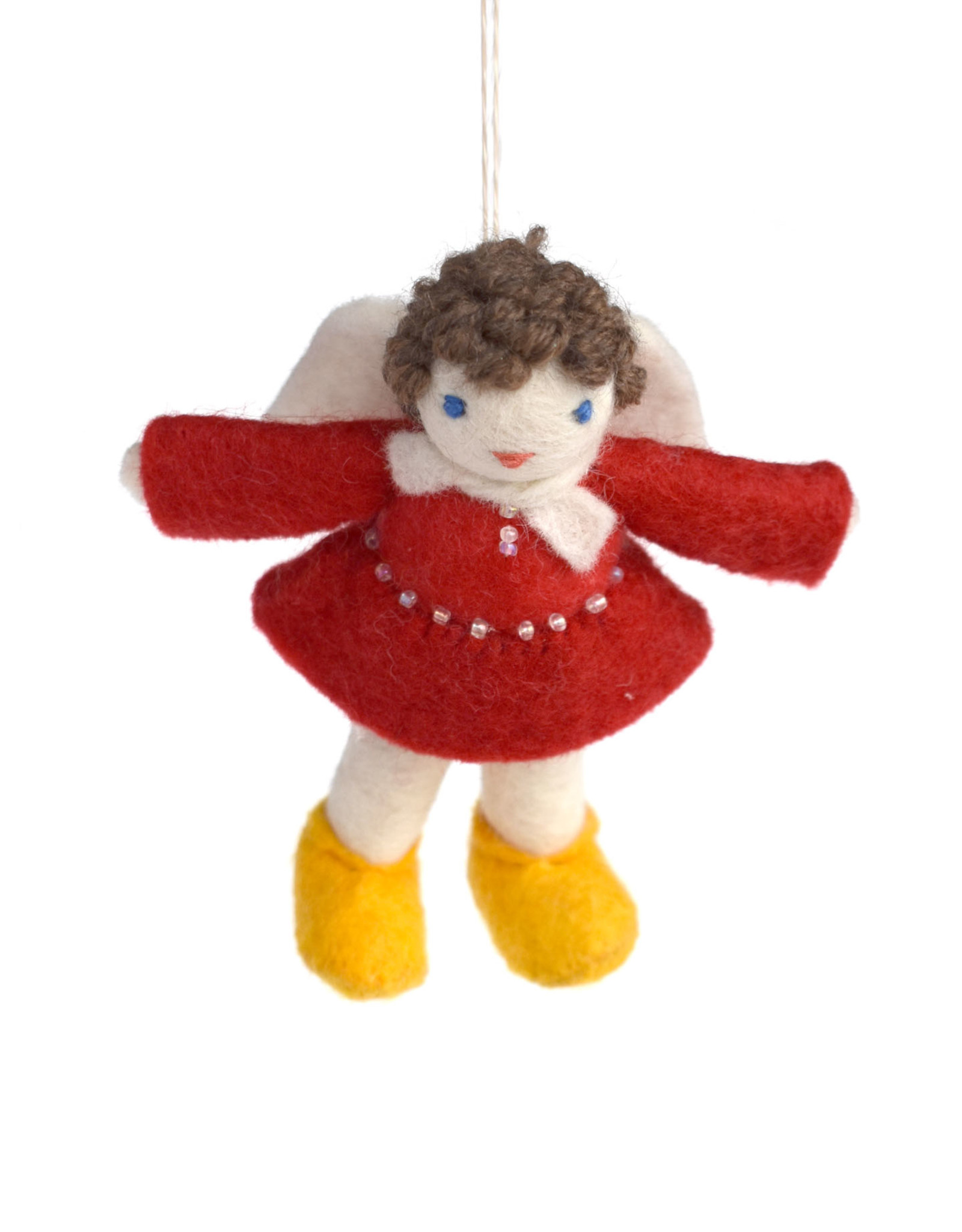 My Darling Angel Ornament - Red