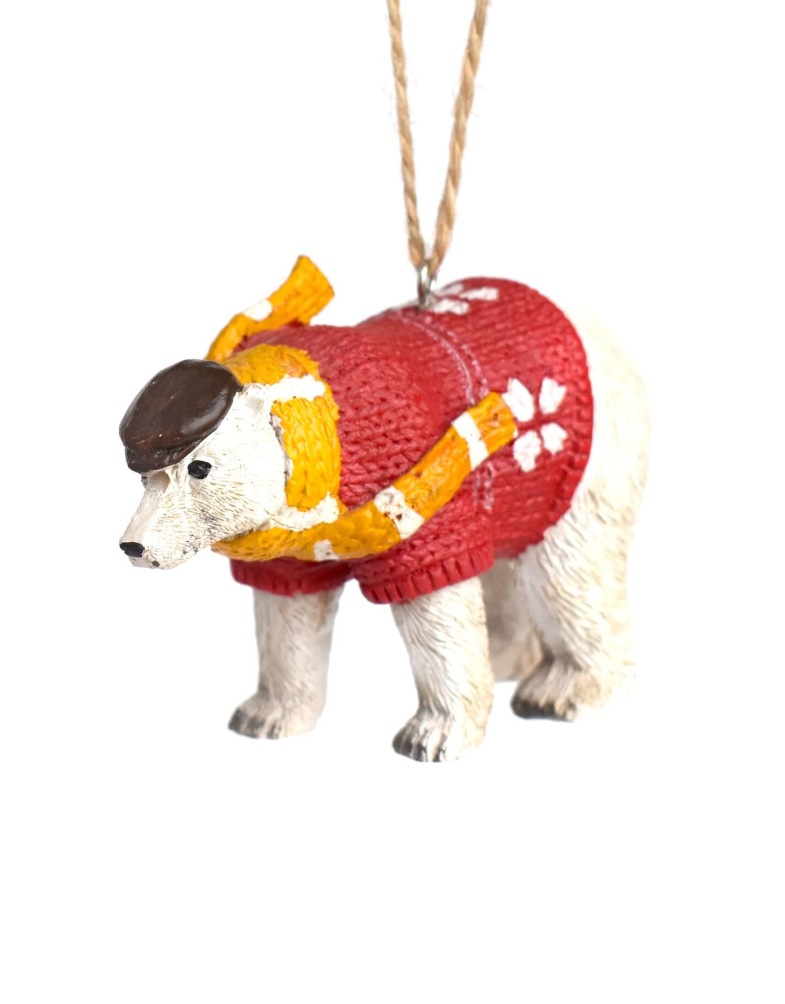 Polar Bear Resin Animal Ornament