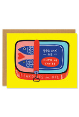 You and Me Sardines Greeting Card