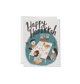 Happy Hanukkah Family Greeting Card