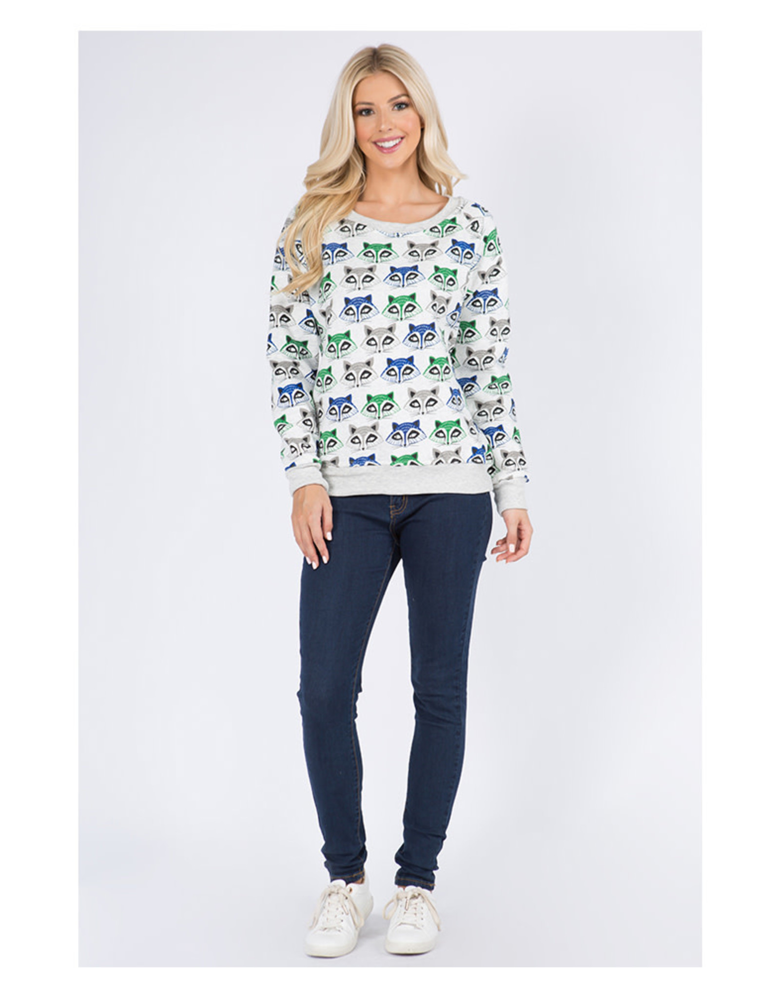 Raccoon Face Sweatshirt