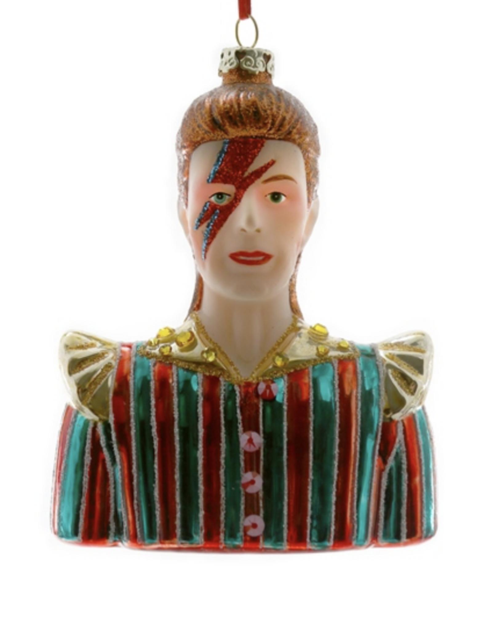 David Bowie Glass Ornament