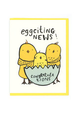 Eggciting News (Birds) Greeting Card