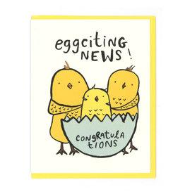 Eggciting News (Birds) Greeting Card