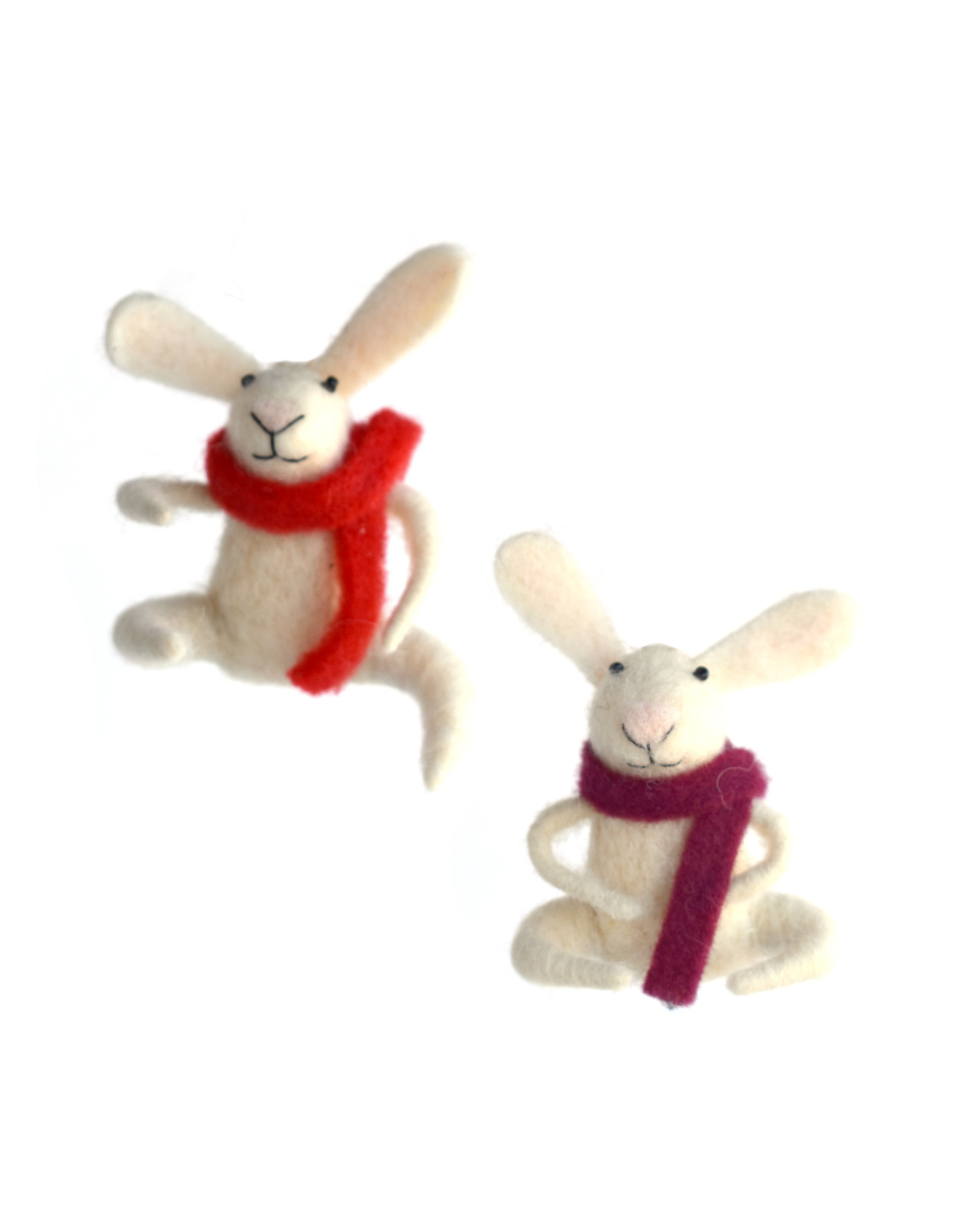 Little Bunny With Scarf Ornament (assorted)