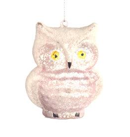 Beaded Glitter Owl Ornament