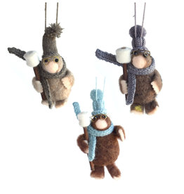 Campfire Mole Felted Ornament (Assorted)