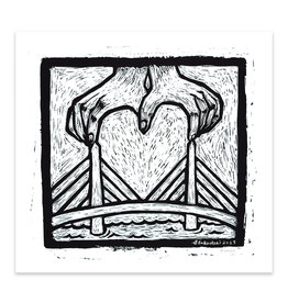 Hearts for Boston Bridge Print