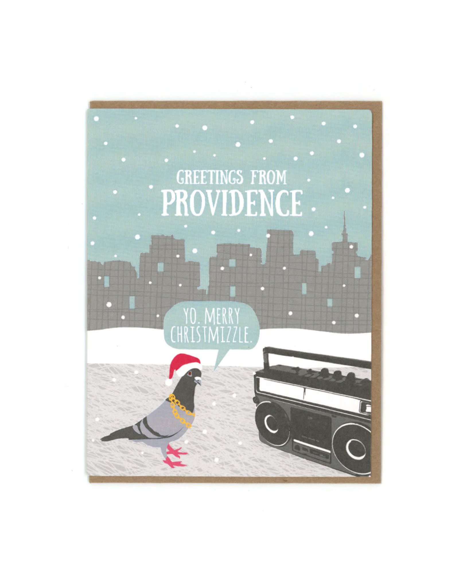 Christmizzle Pigeon Greeting Card